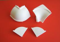 Plastični uglovi i završeci Volpato obli-beli