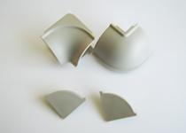 Plastični uglovi i završeci Volpato - aluminijum - obli