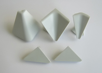 Plastični uglovi i završeci Volpato - aluminijum - trouglasti