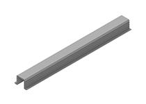 PVC profil donja šina jednokanalna 3 m