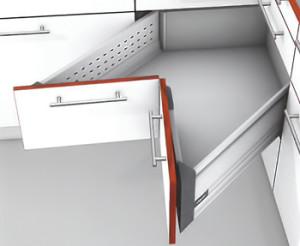BLUM Tandembox Fioka-D, Boxside 50kg, 600mm Space Corner