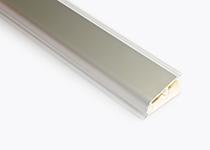 Lajsna PVC duguljasta Volpato - aluminijum 24 x 45 mm