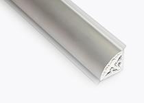 Lajsna PVC ovalna Volpato - aluminijum 29 x 29 mm